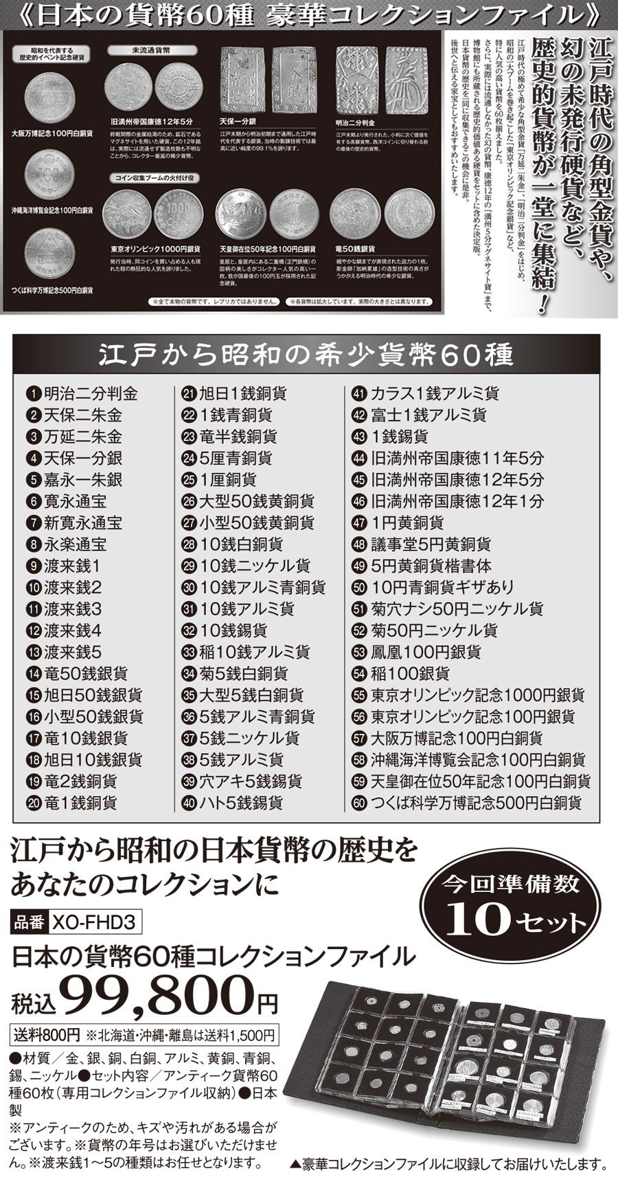 日本の貨幣60種 豪華コレクションファイル