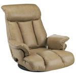 【極厚クッションが心地よい、安心の日本製】リクライニング付き回転座椅子