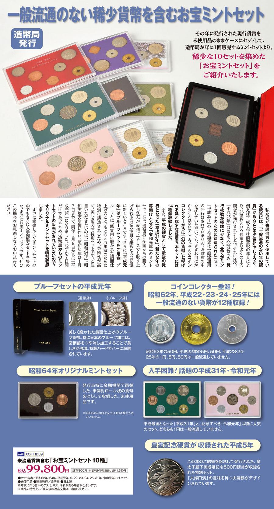 発行枚数 平成31年 500円玉